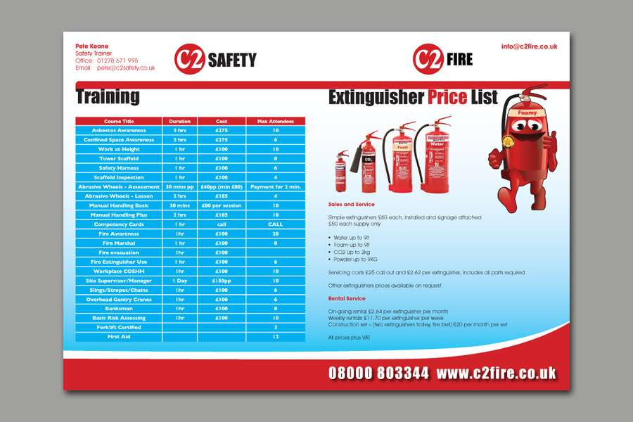 C2 Safety Quarterly Newsletter - Inside Pages & Table Layout
