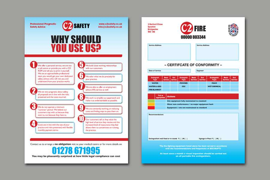 C2 Safety Flyer Design and Layout of a Form