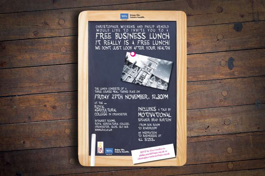 WPA Flyer Design for Business Lunch