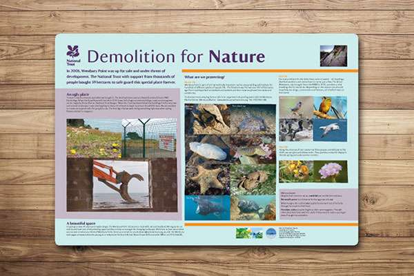 Countryside interpretation panel design for The National Trust