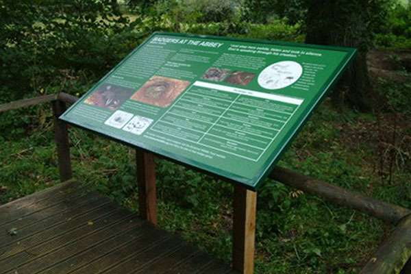 Countryside interpretation panel design for Glastonbury Abbey