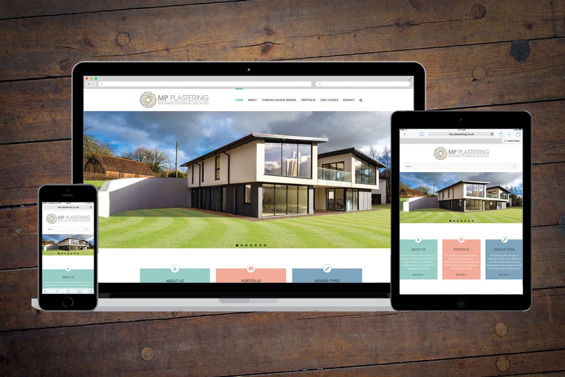 Website design for MP Plastering in Highbridge, Somerset