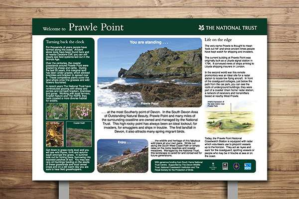 Countryside Interpretive Panel, National Trrust