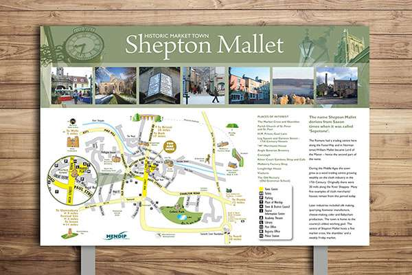 Countryside interpretation panel design for Shepton Mallet
