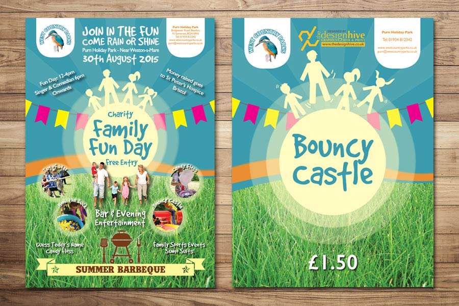 Charity Fun Day Signage Design, Weston-s-Mare
