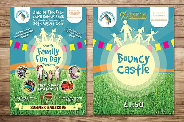Charity Fun Day Signage Design, Weston-s-Mare