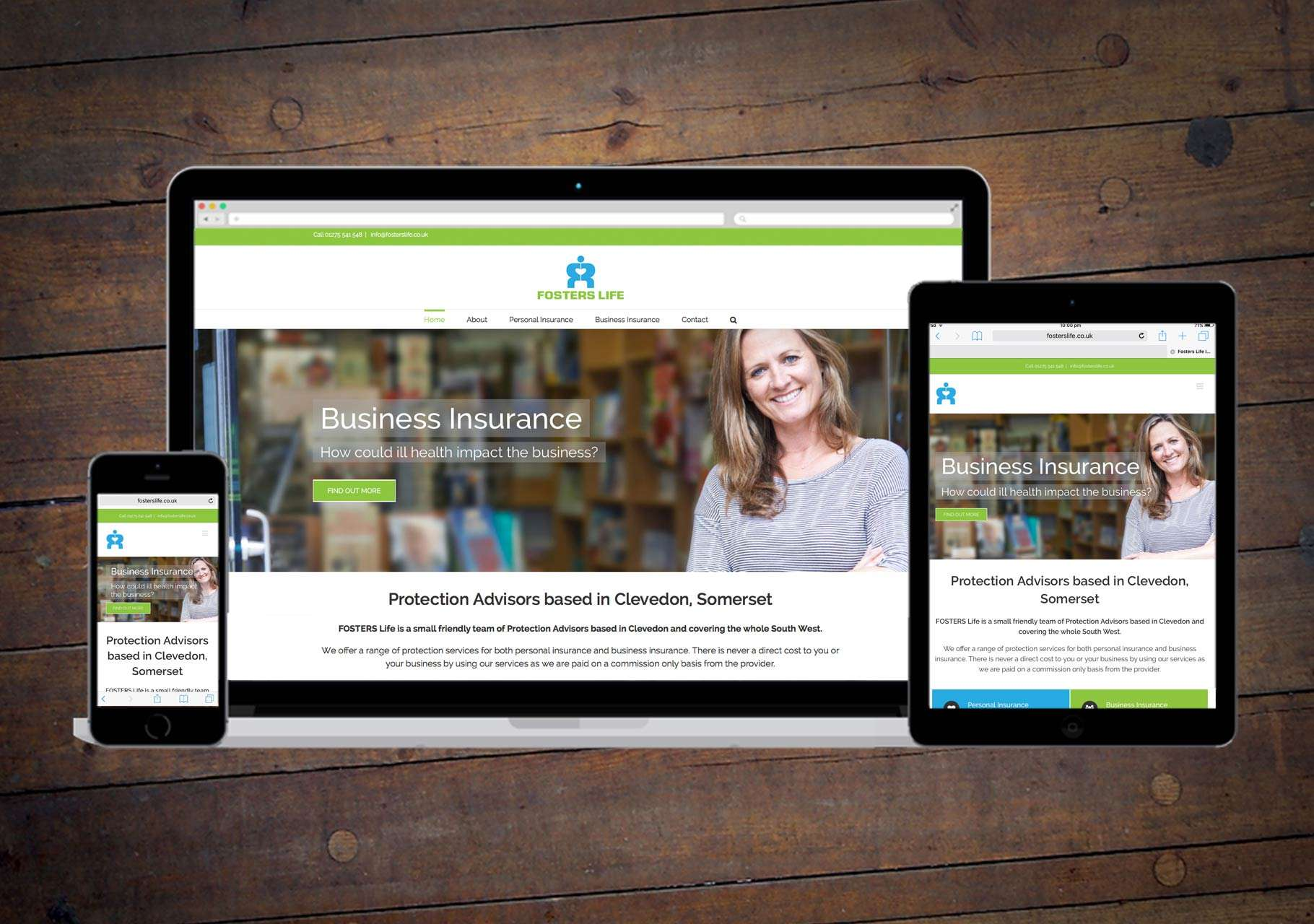 Wordpress website design for mortgage & insurance company, Clevedon, Somerset