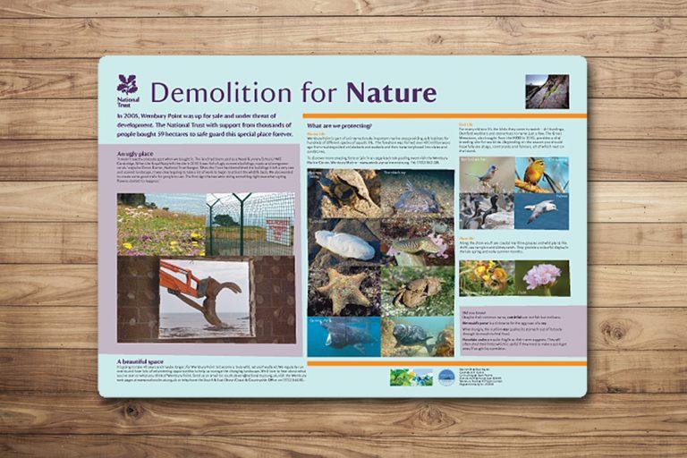 Information panel showing woodland walks 2 1