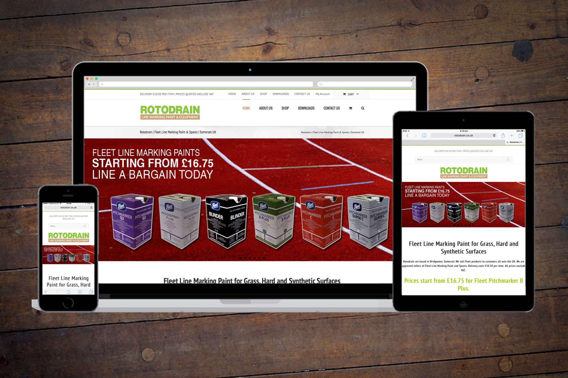 Ecommerce website design Bridgwater