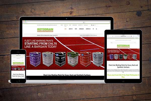 Ecommerce website design for Bridgwater Rotodrain