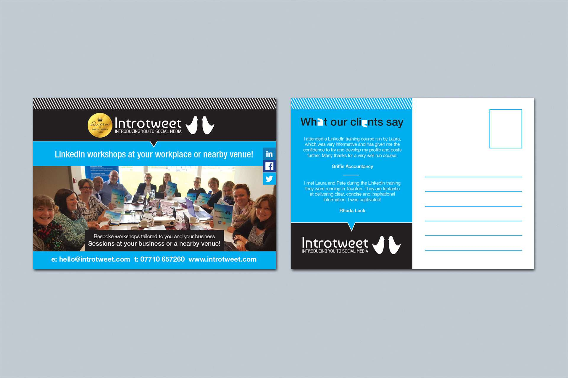 Flyer design for social media company based in Taunton, Somerset Logo design Taunton