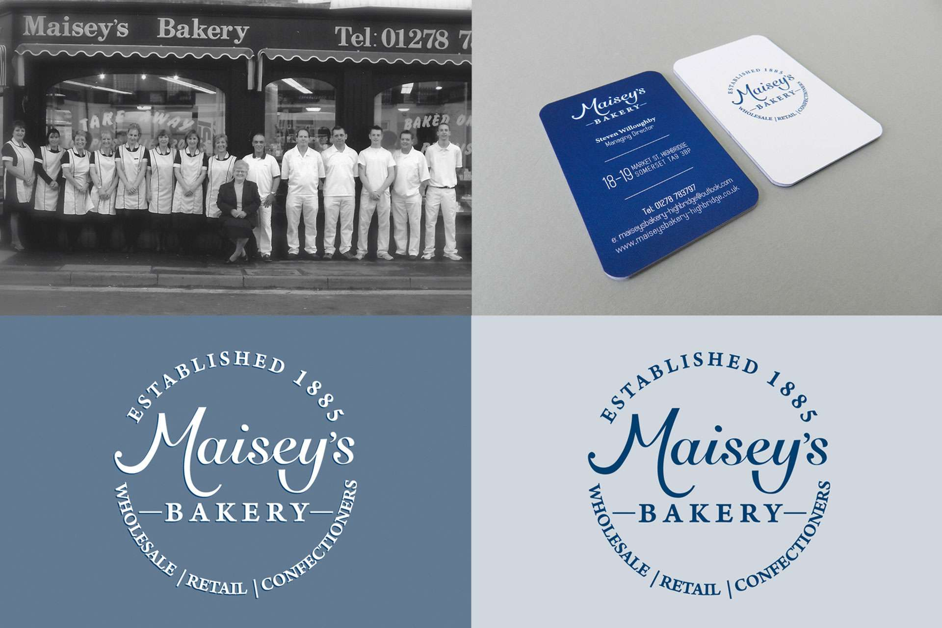 Maisey's Bakery shop graphic design, Somerset