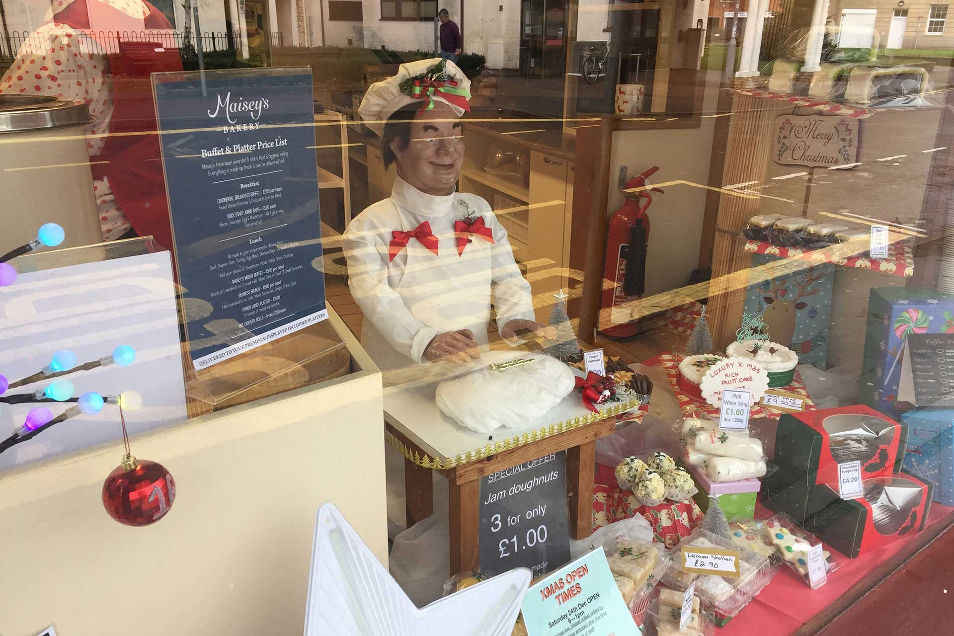 Maisey's Bakery shop menu design, Highbridge, Somerset