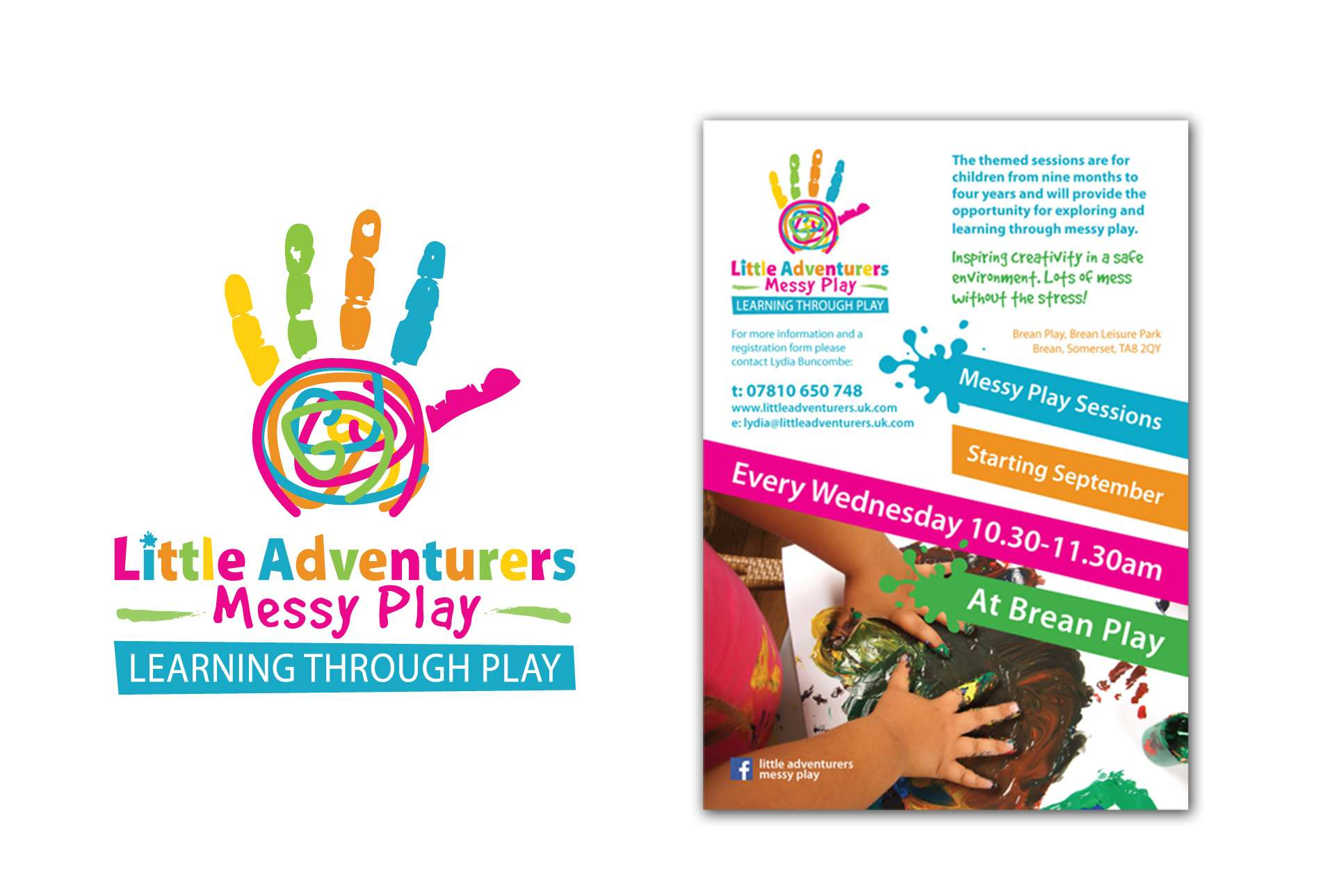 Little Adventurers Messy Play Logo & Poster Design
