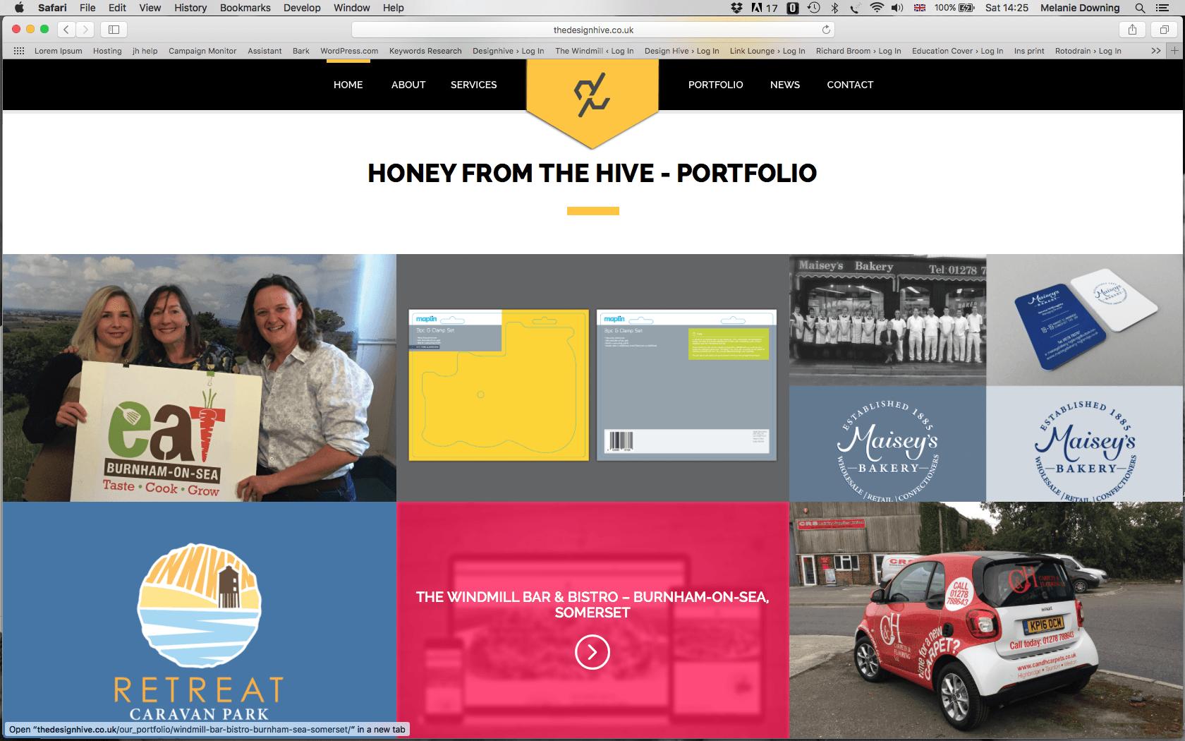 The Design Hive Website