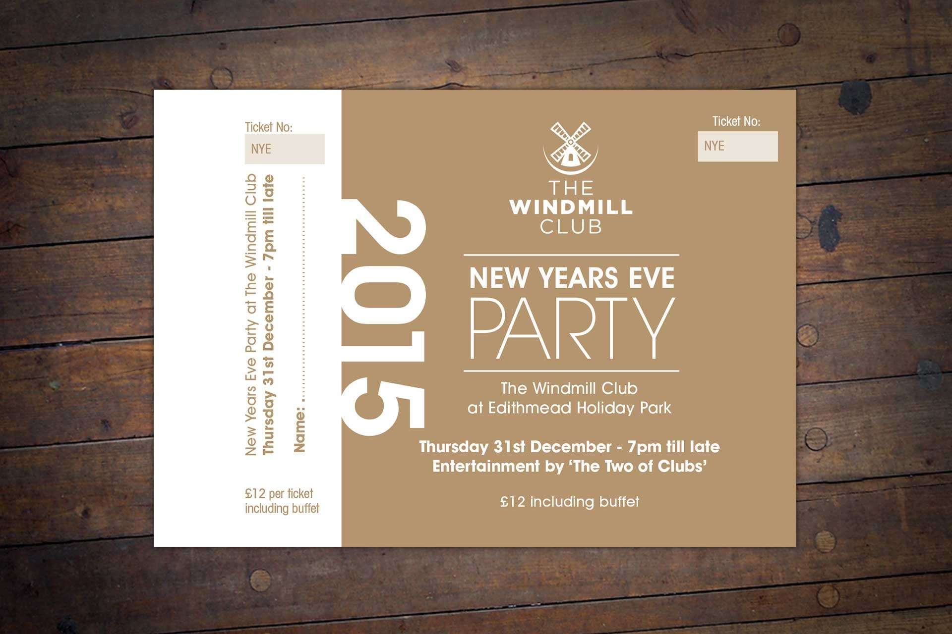 Windmill Bar & Bistro Party invite design for Restaurant, Burnham-on-Sea, Somerset