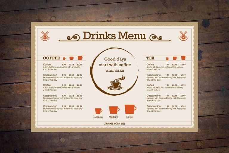 Windmill Restaurant Bistro Menu Design Somerset 1