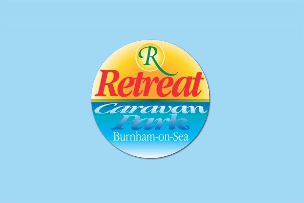Retreat Caravan Park old logo design, Burnham-on Sea, Somerset