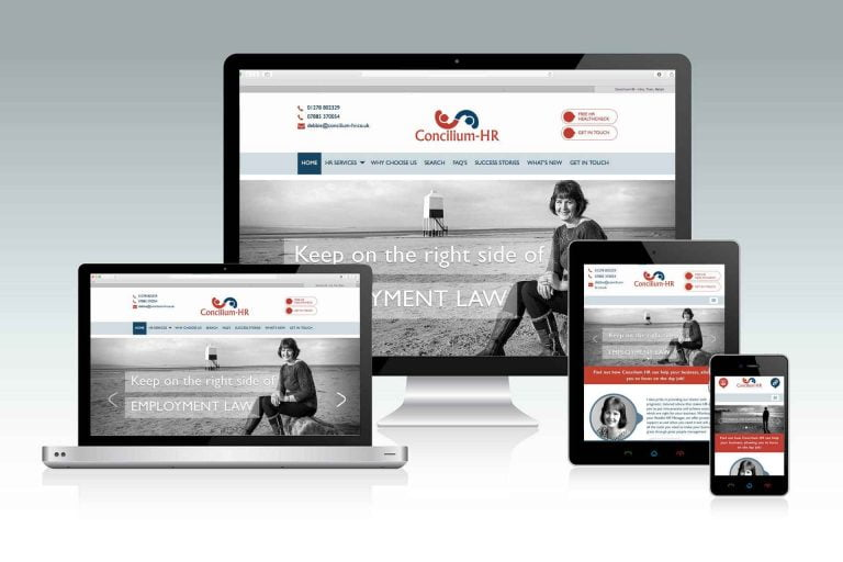 concilium hr website design burnham on sea