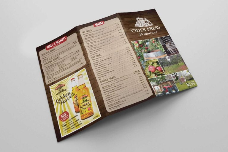 Richs Cider Farm Menu Design Watchfield