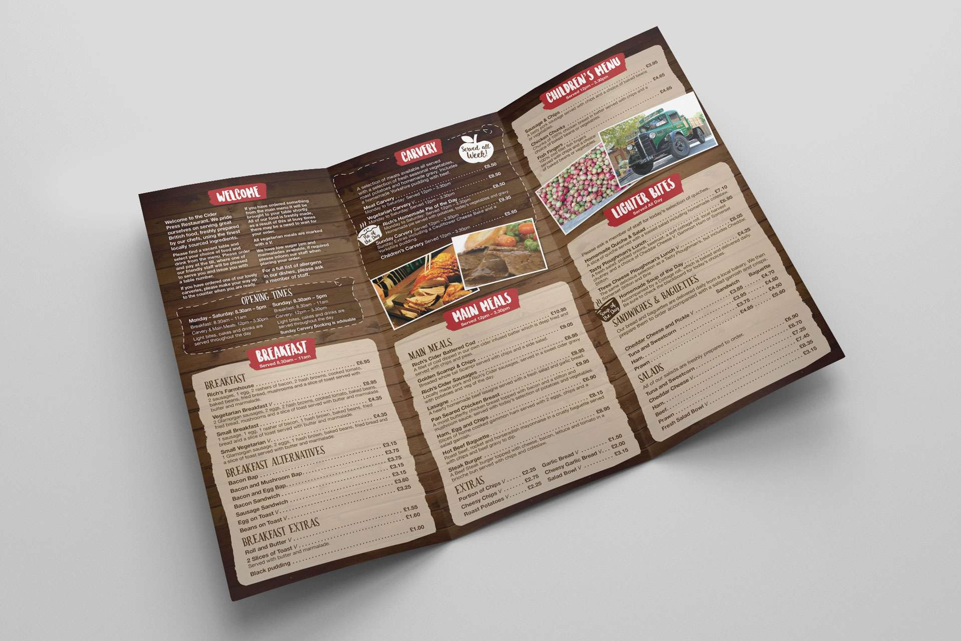 Rich's Cider Farm Menu Design