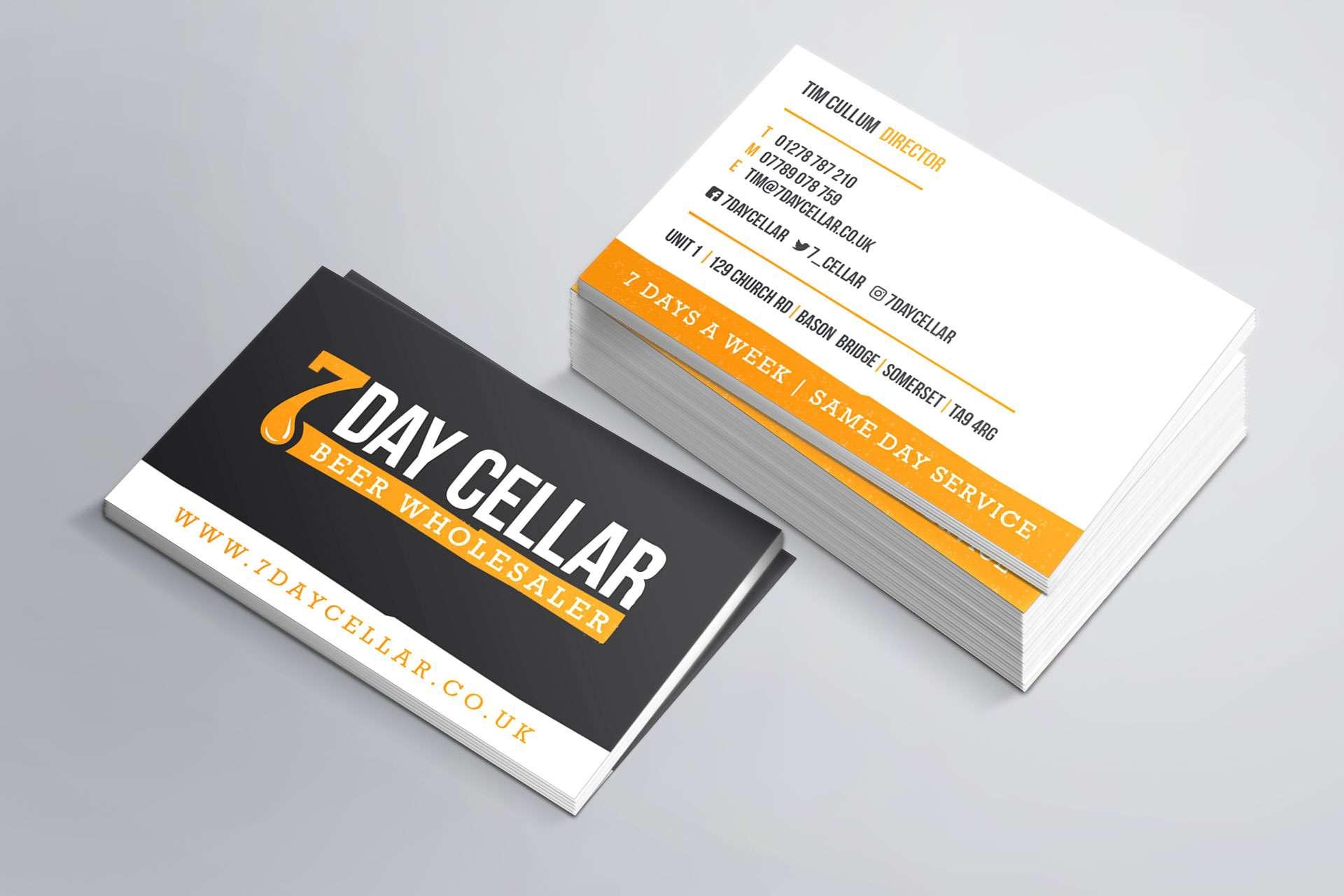 7 Day Cellar business card design, Somerset