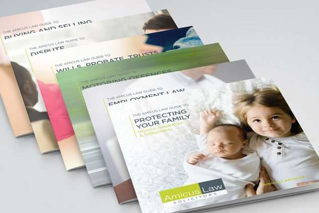 Amicus Law Solicitors Brochure Design, Somerset
