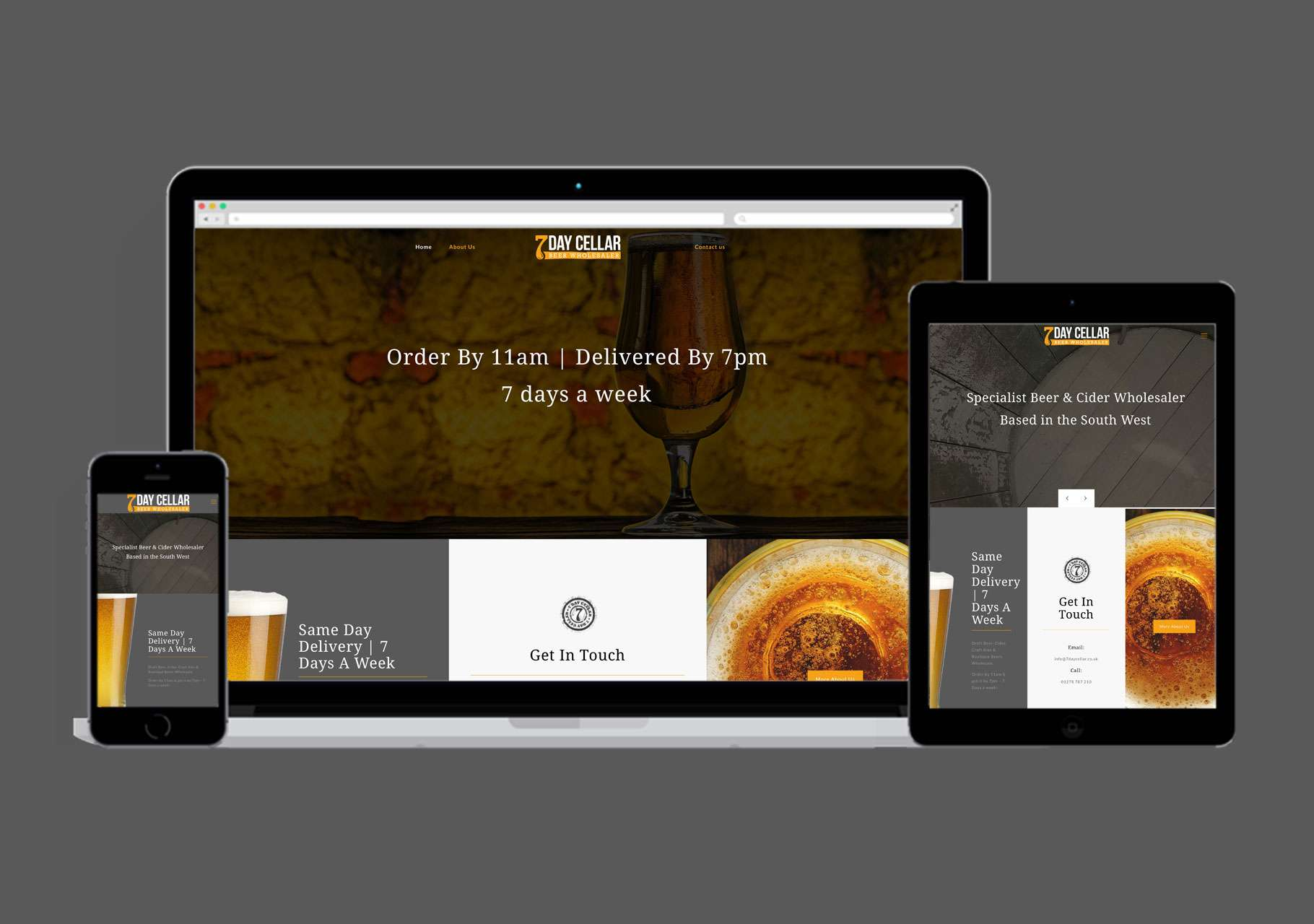 Branding 7 Day Cellar Ecommerce website design, Somerset