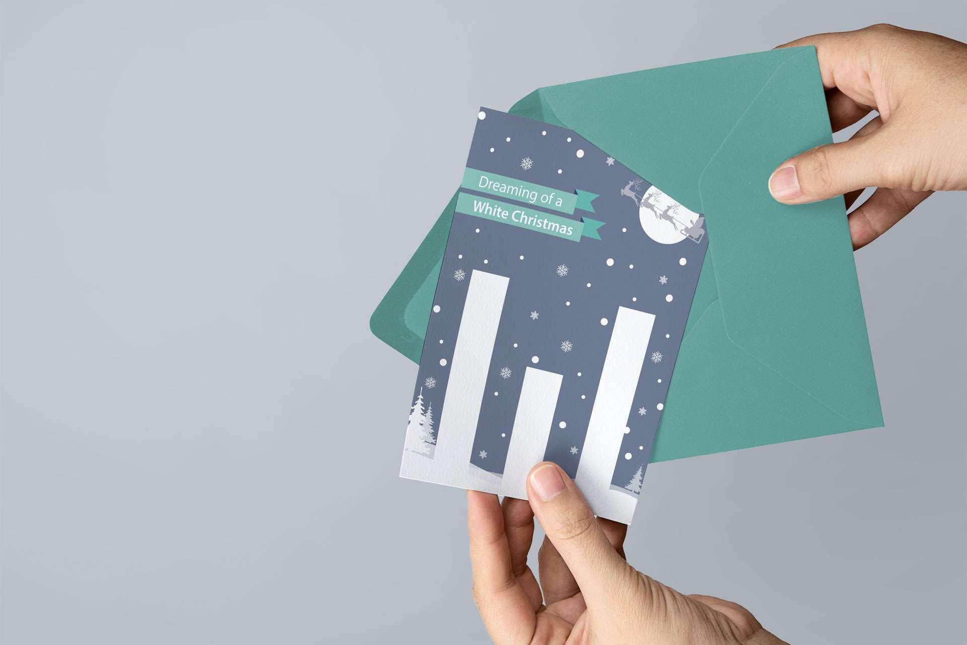 White Financial Christmas Card Design Taunton Somerset