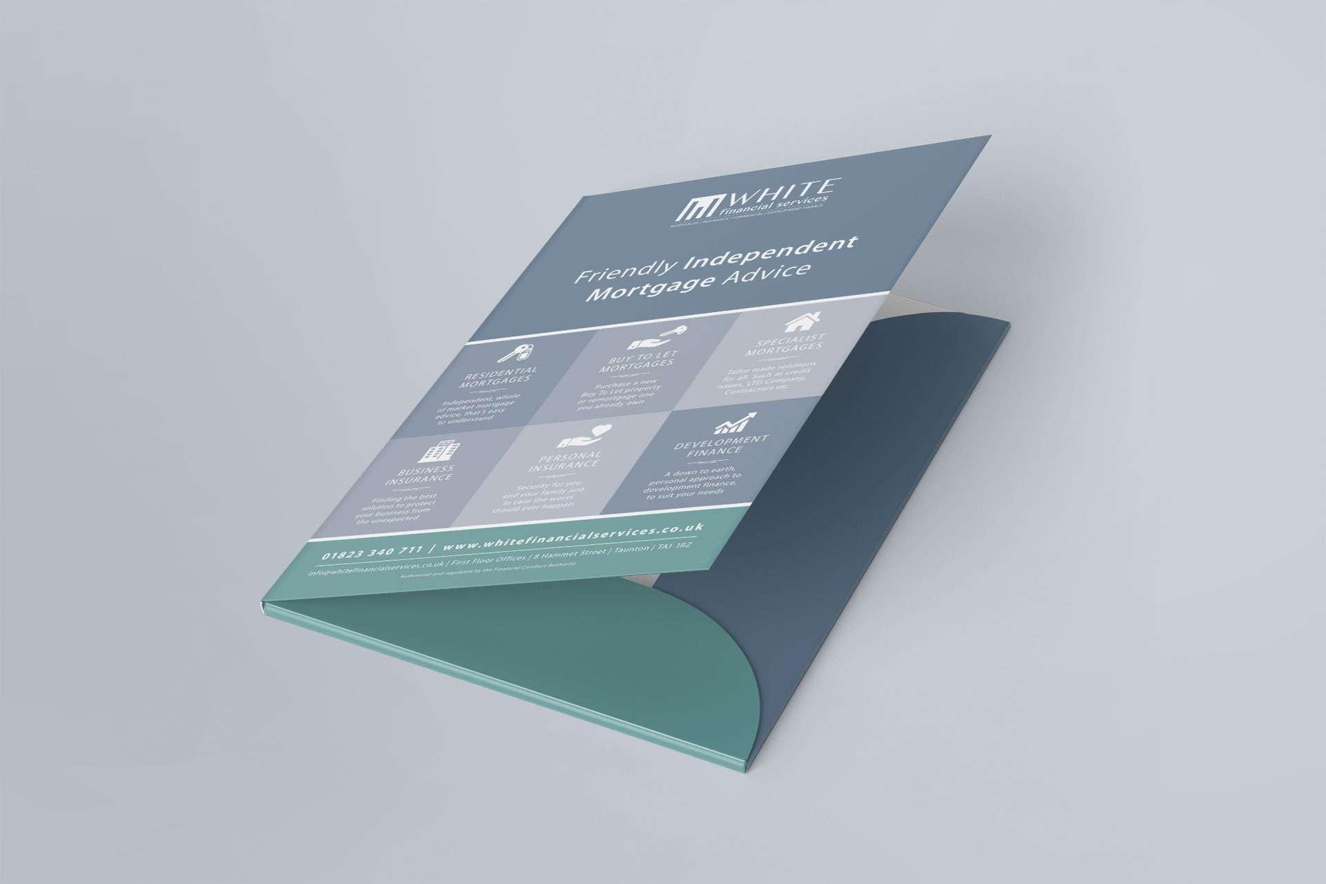 White Financial A4 Folder Design Taunton Somerset