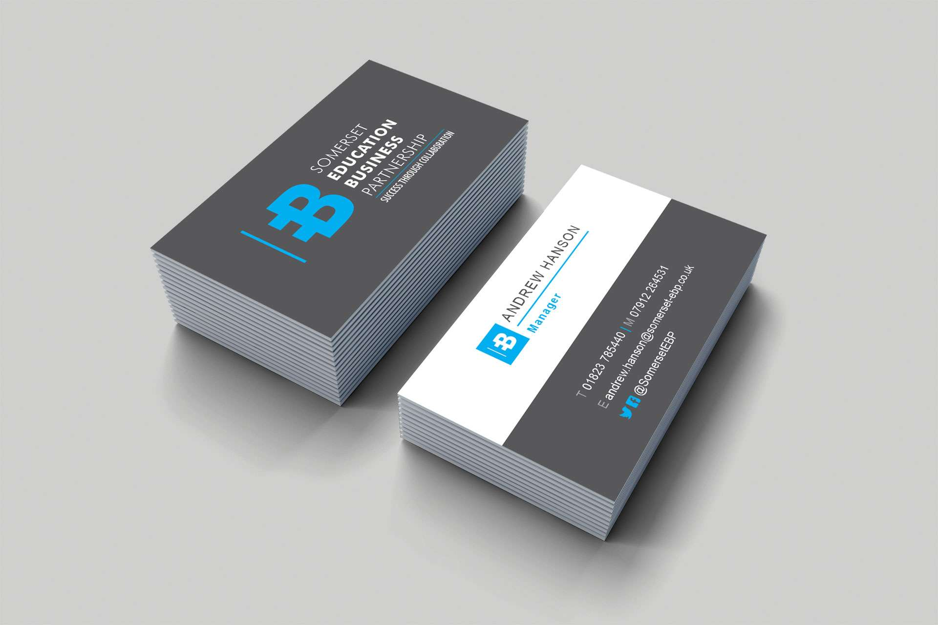 Somerset education business Partnership Business Card Design