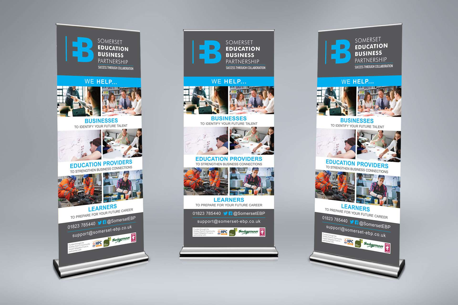 Somerset education business Partnership Pull Up Banner design
