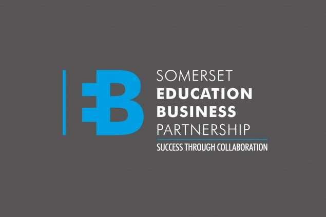 Somerset education business Partnership logo design