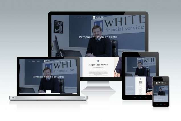 White Financial Website Design Taunton Somerset