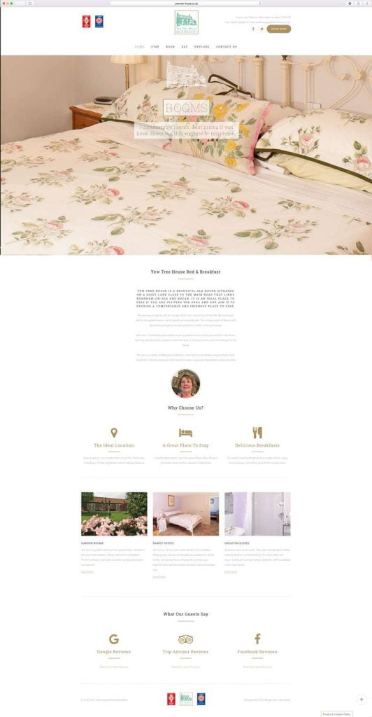 bed-breakfast-website-design-brean-somerset-532x1024 Yew Tree House Bed and Breakfast | Website | Business Card Design