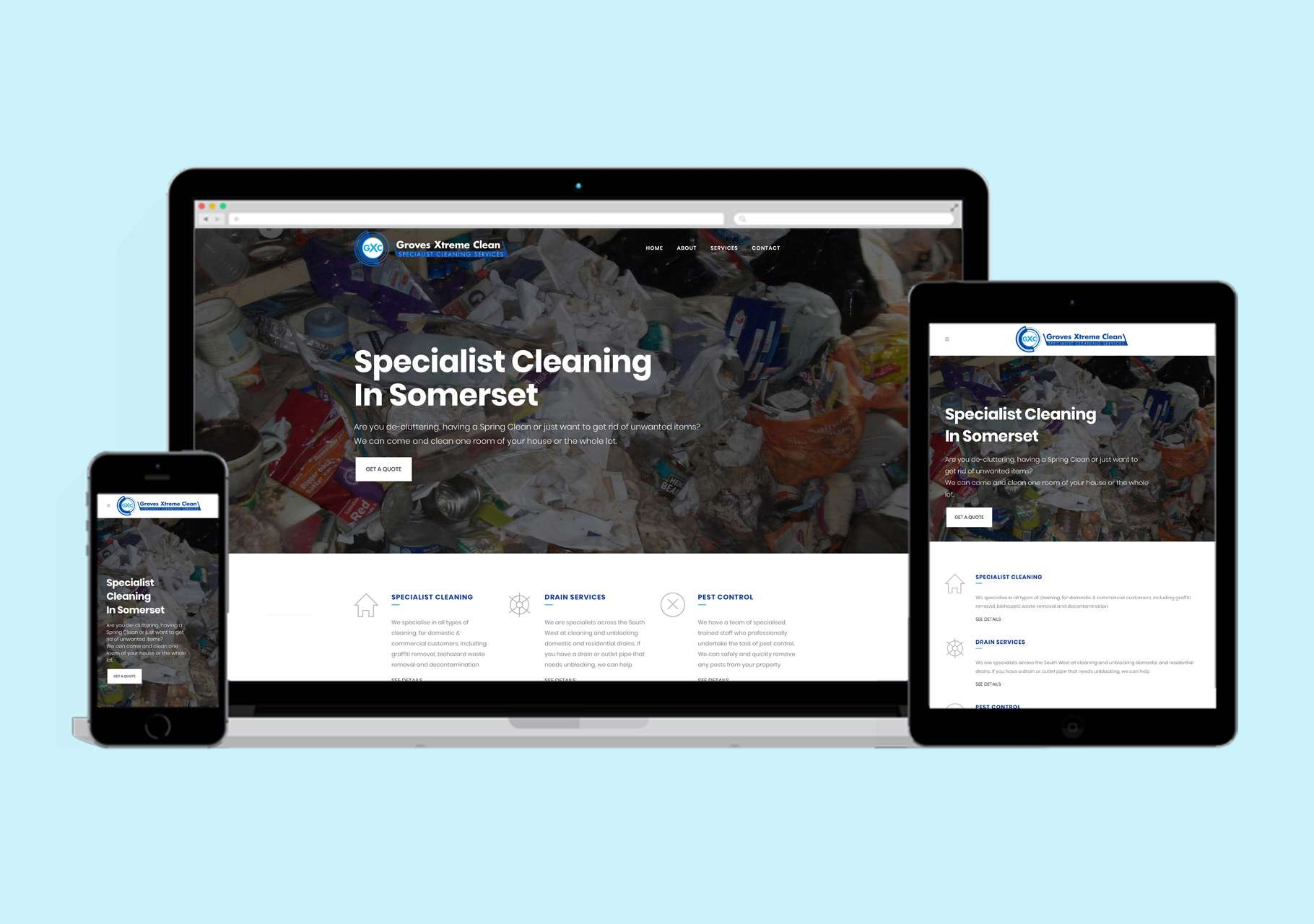 groves xtreme clean website design somerset