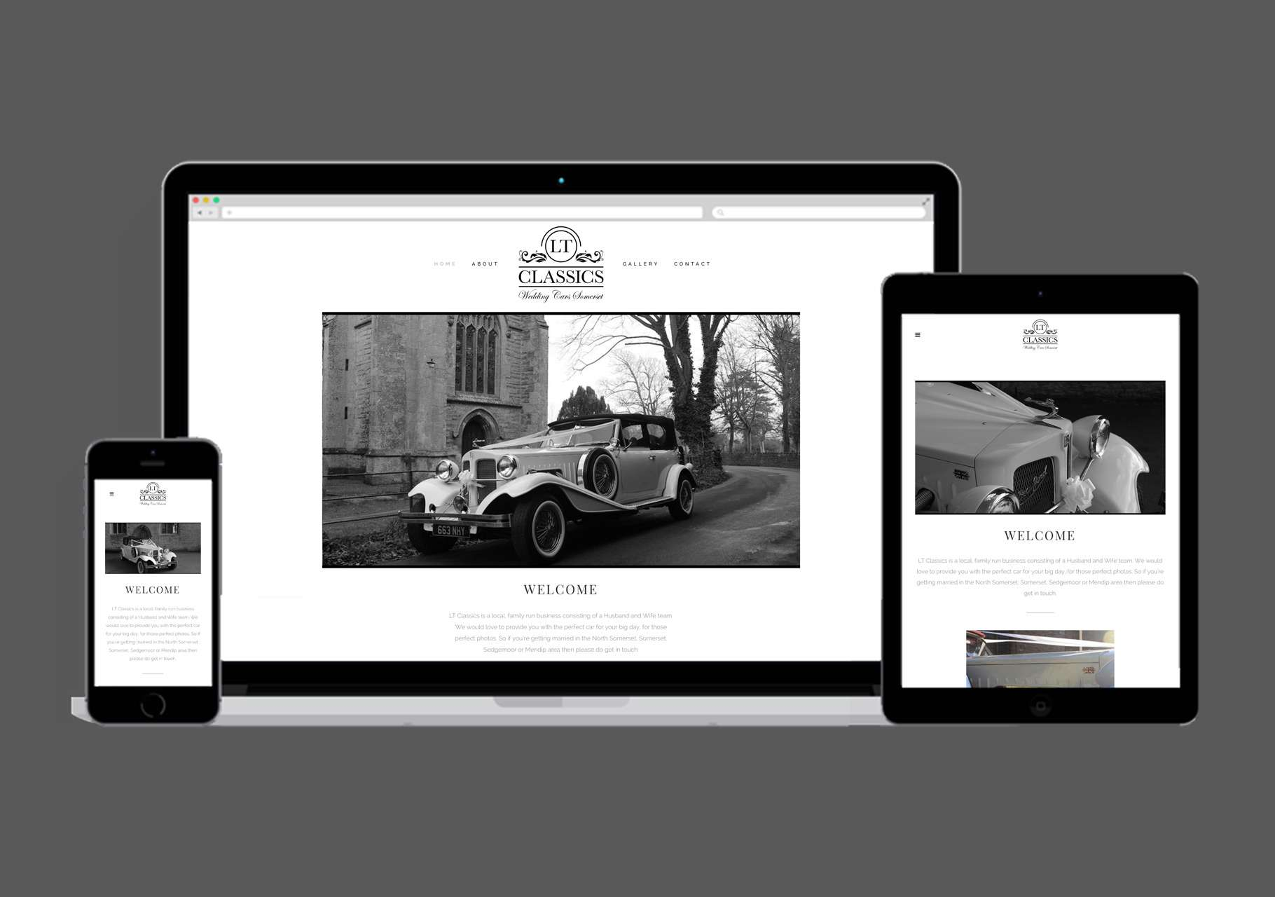 LT Classics - Wedding Cars Somerset Website Design