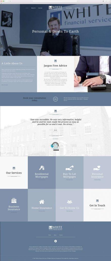 white-financial-taunton-website-design-438x1024 White Financial Services Website Design and Brand Development, Taunton, Somerset