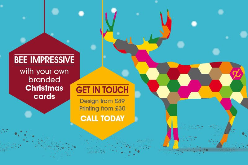 Company branded Christmas cards, Highbridge, Somerset