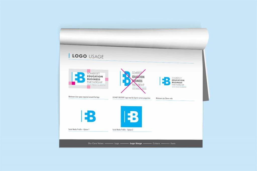 SEBP brand guidelines design somerset