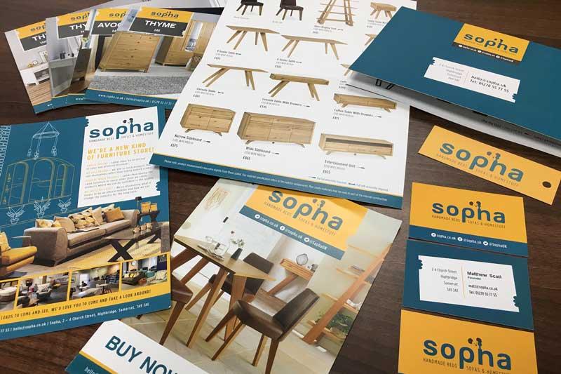 Sopha store branding