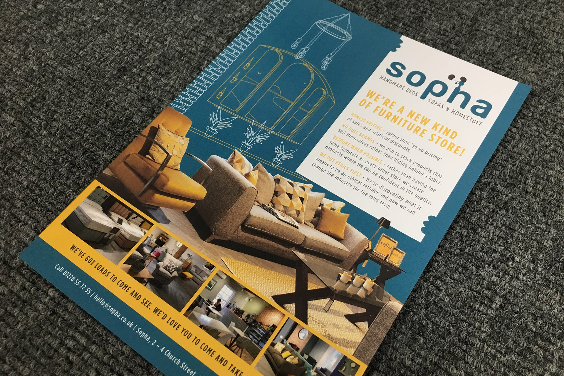 Sopha-furniture-flyer-design-Burham-on-Sea-Somerset