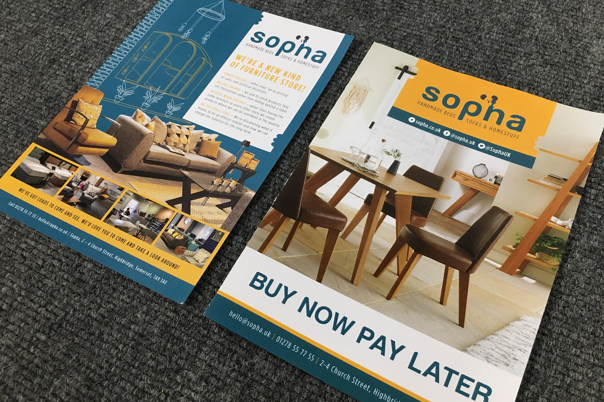 Sopha-furniture-flyer-design-Somerset