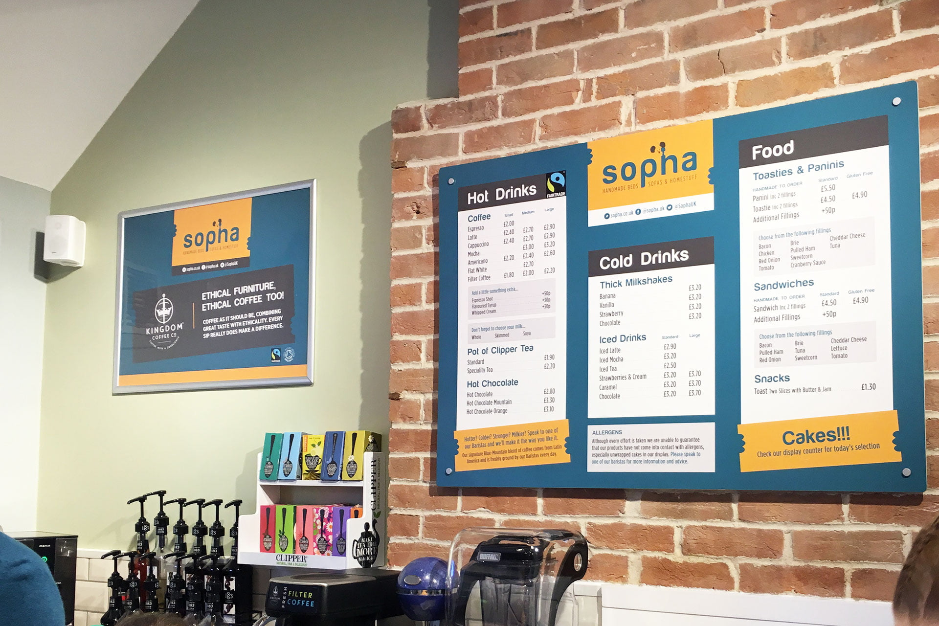 Sopha-furniture-retail-shop-menu-design-Highbridge-Somerset