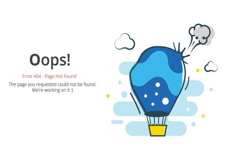 Oops 404 Page not found