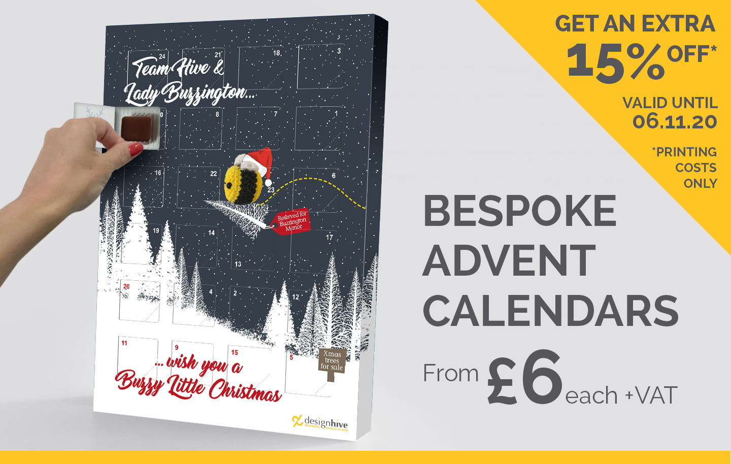 The Design Hive Bespoke Christmas Advent Calendars
