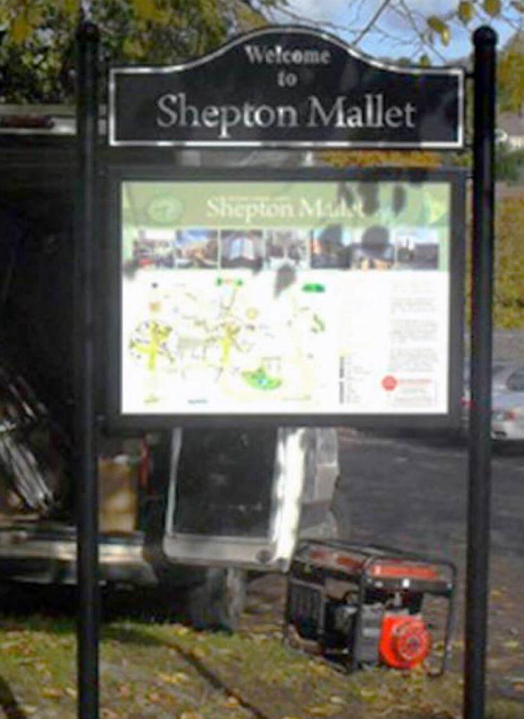 Interpretation panel in Shepton Mallet car park2