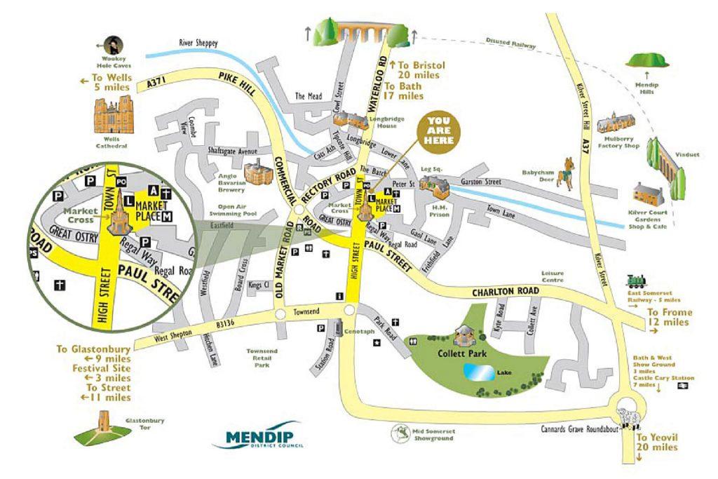 Map illustration Highbridge Somerset