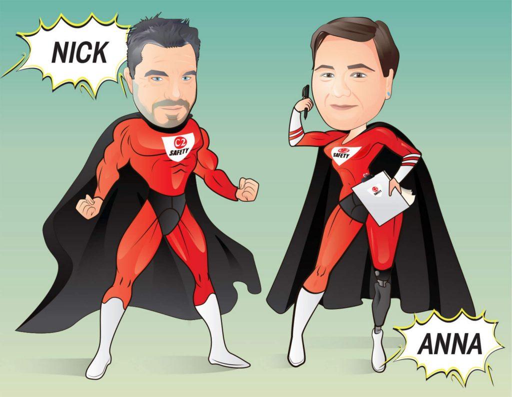 Superhero illustration somerset