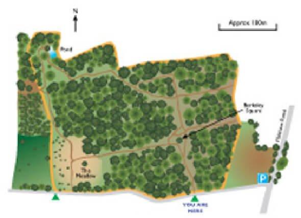 nature reserve map illustration somerset